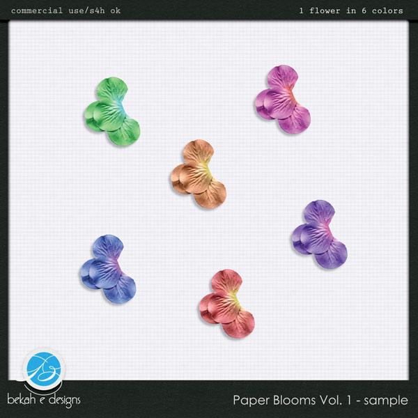 Paper Blooms Vol. 1 - Sample